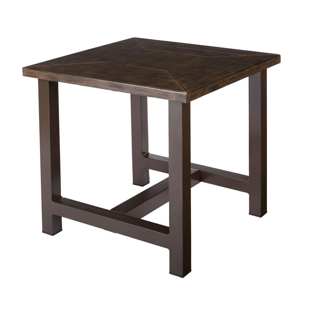 home decorators collection bolingbrook accent metal outdoor patio side tables round table wooden storage crates ikea distressed gray end small with wood top zebra furniture rattan