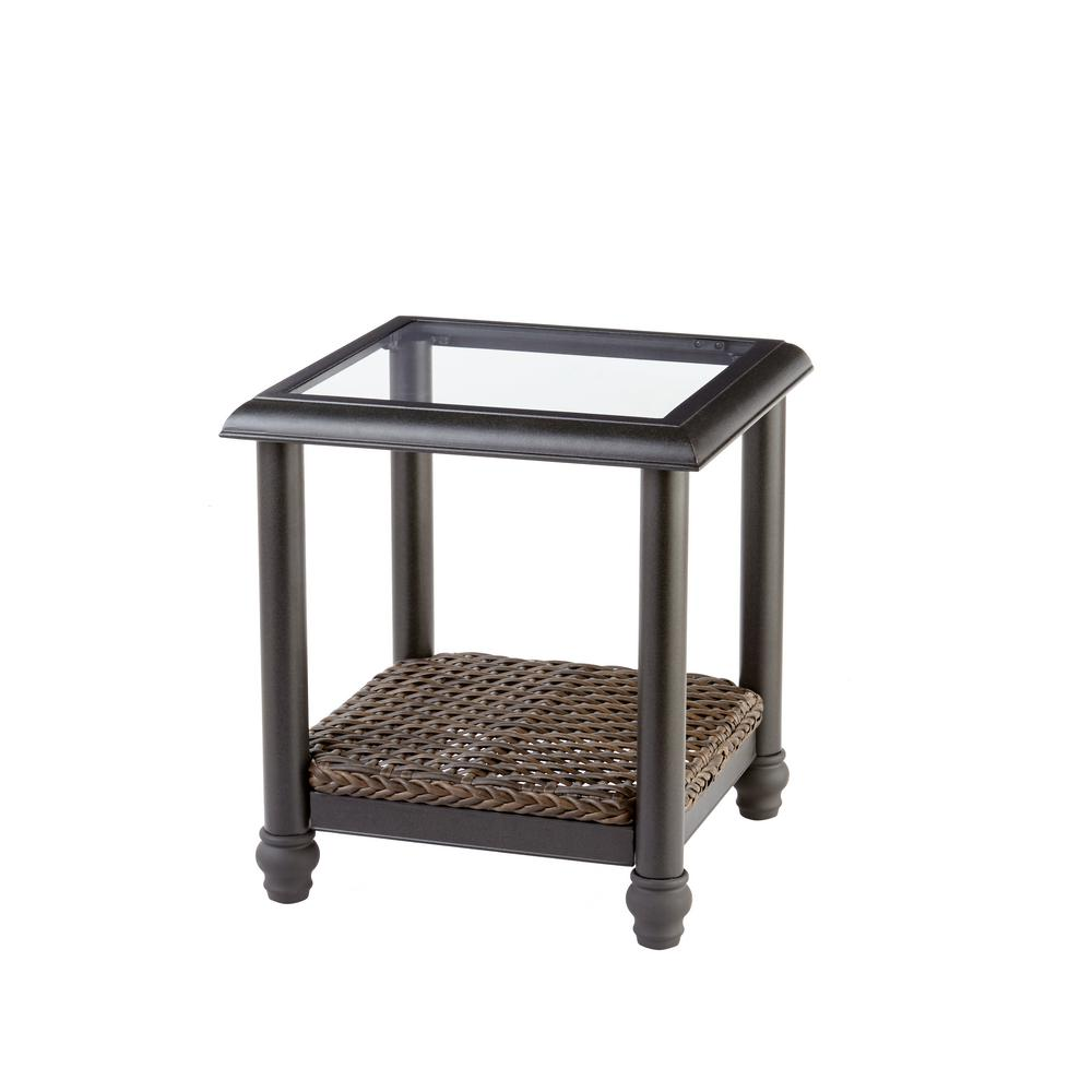 home decorators collection camden dark brown wicker outdoor side tables table luxury living room furniture stained glass standing lamp oak nightstand ballard designs chair