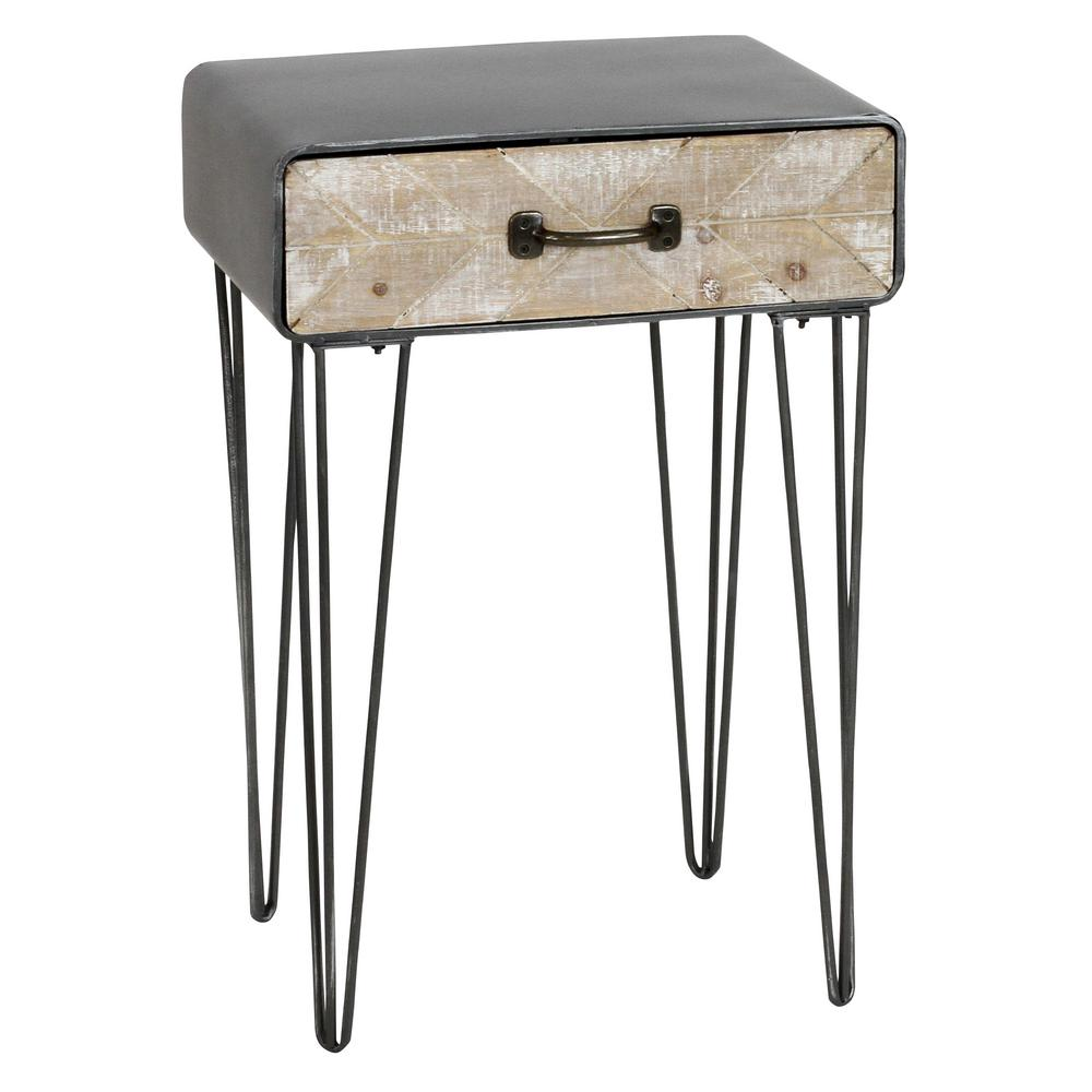 home decorators collection gray end tables accent the rustic table felton with drawer threshold rugs slim white console pub style and chairs kitchen glass brushed nickel storage