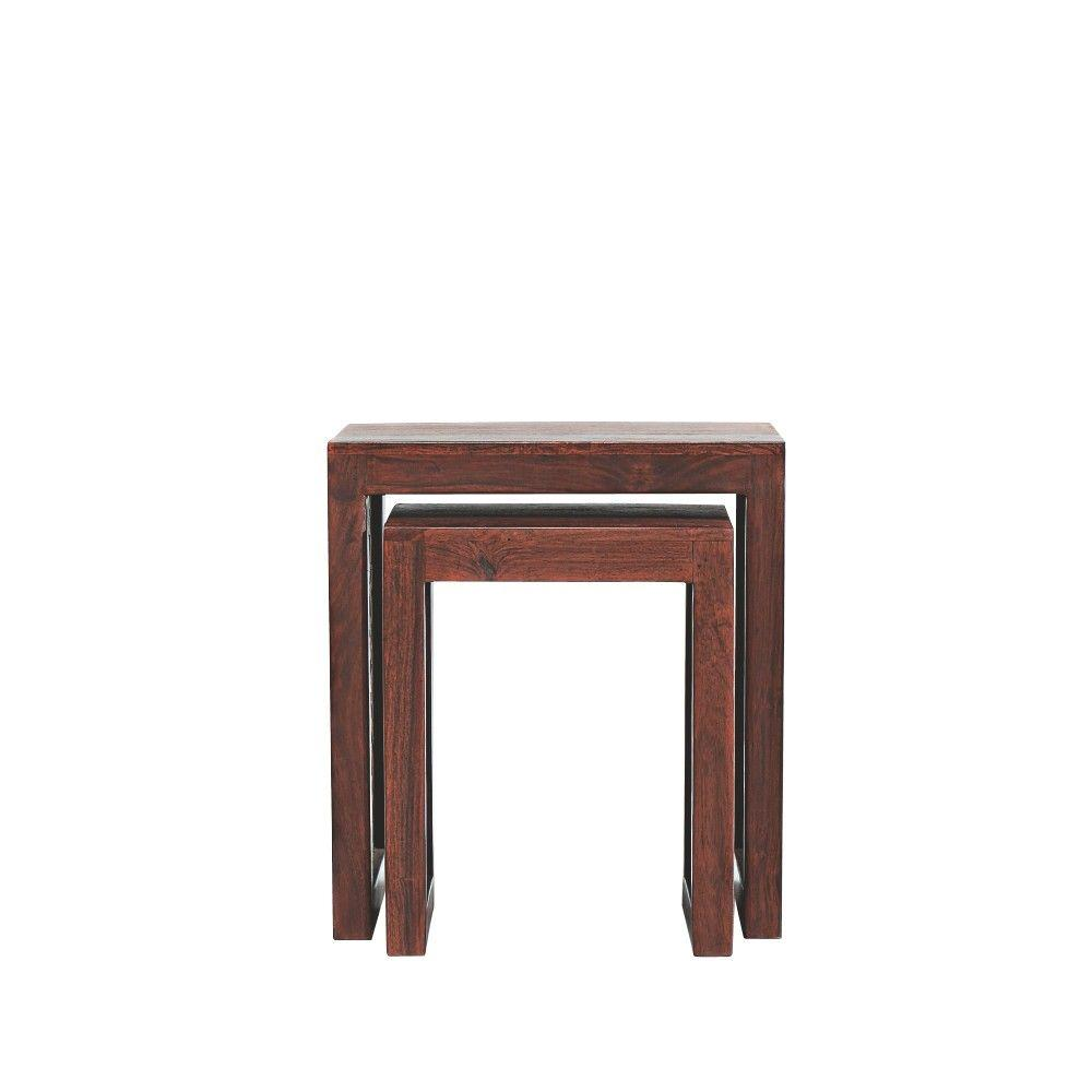 home decorators collection maharaja walnut piece nesting end table tables small rectangular accent chestnut coffee bunnings wicker furniture made nest narrow with drawer bath