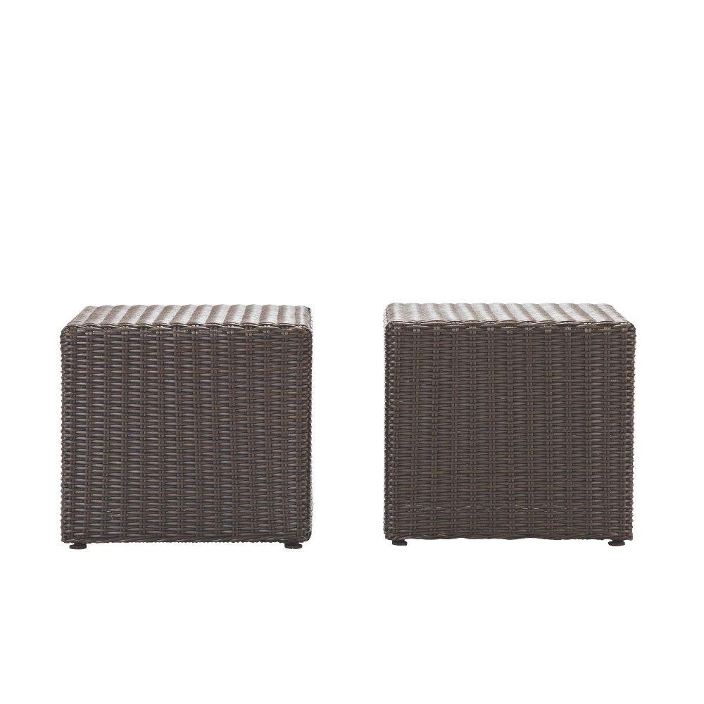 home decorators collection naples brown square all weather wicker outdoor side tables table coffee patio pier one lamps wedding covers designer lighting brands luxury furniture