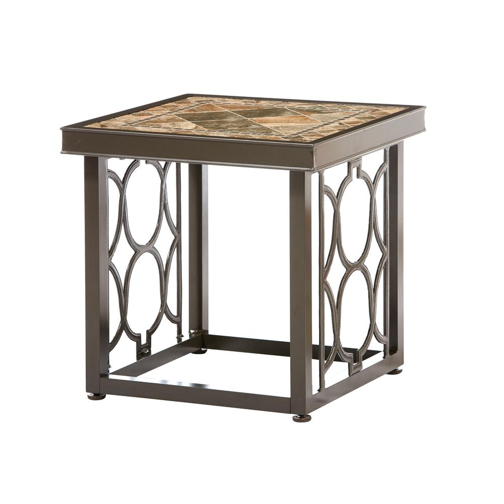 home decorators collection richmond hill heather slate square outdoor side tables glass accent table marble dining room set target nate berkus rug mosaic garden furniture walnut