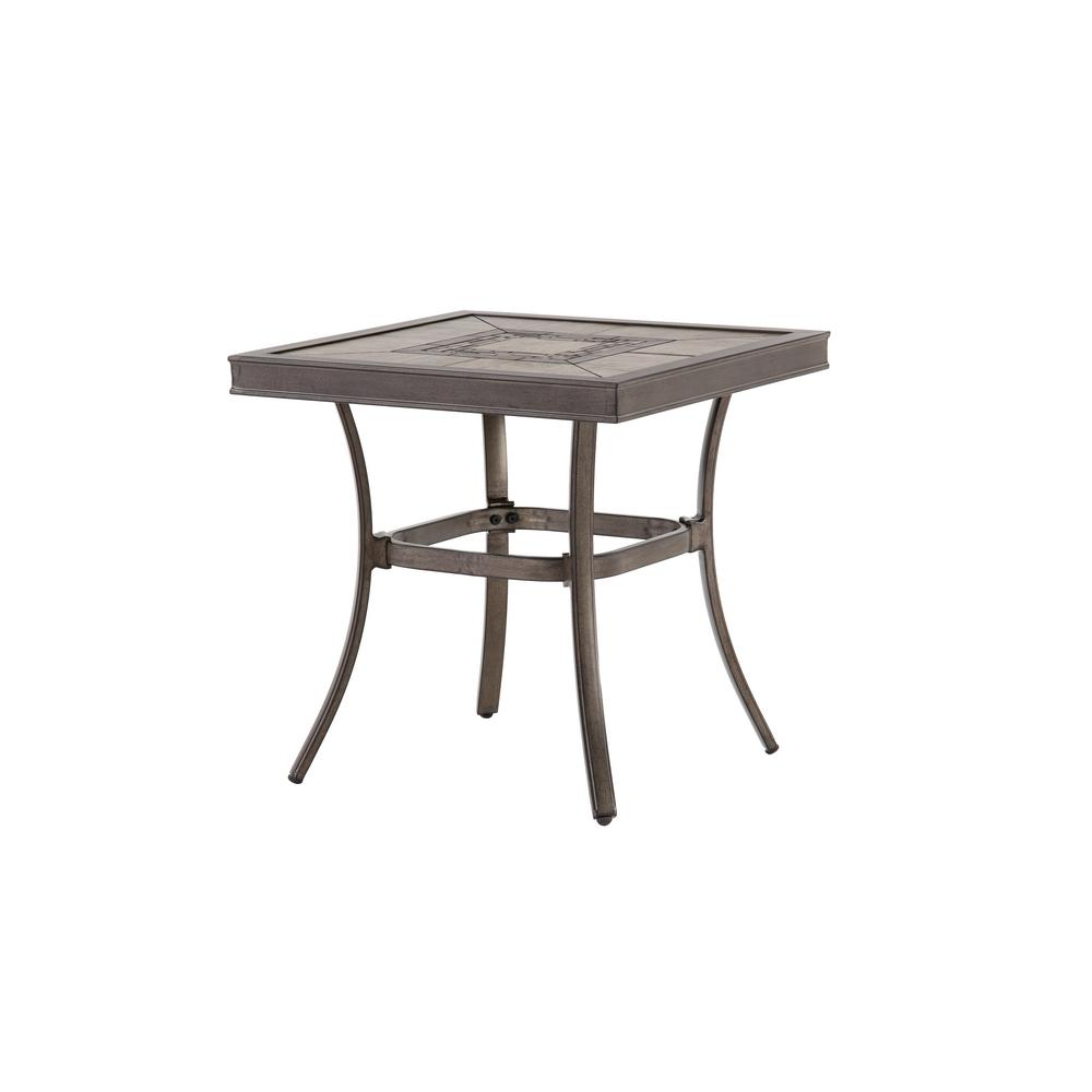 home decorators collection wilshire estates piece aluminum grouted outdoor side tables accent table tile top square inch round christmas tablecloth narrow sofa small nest end