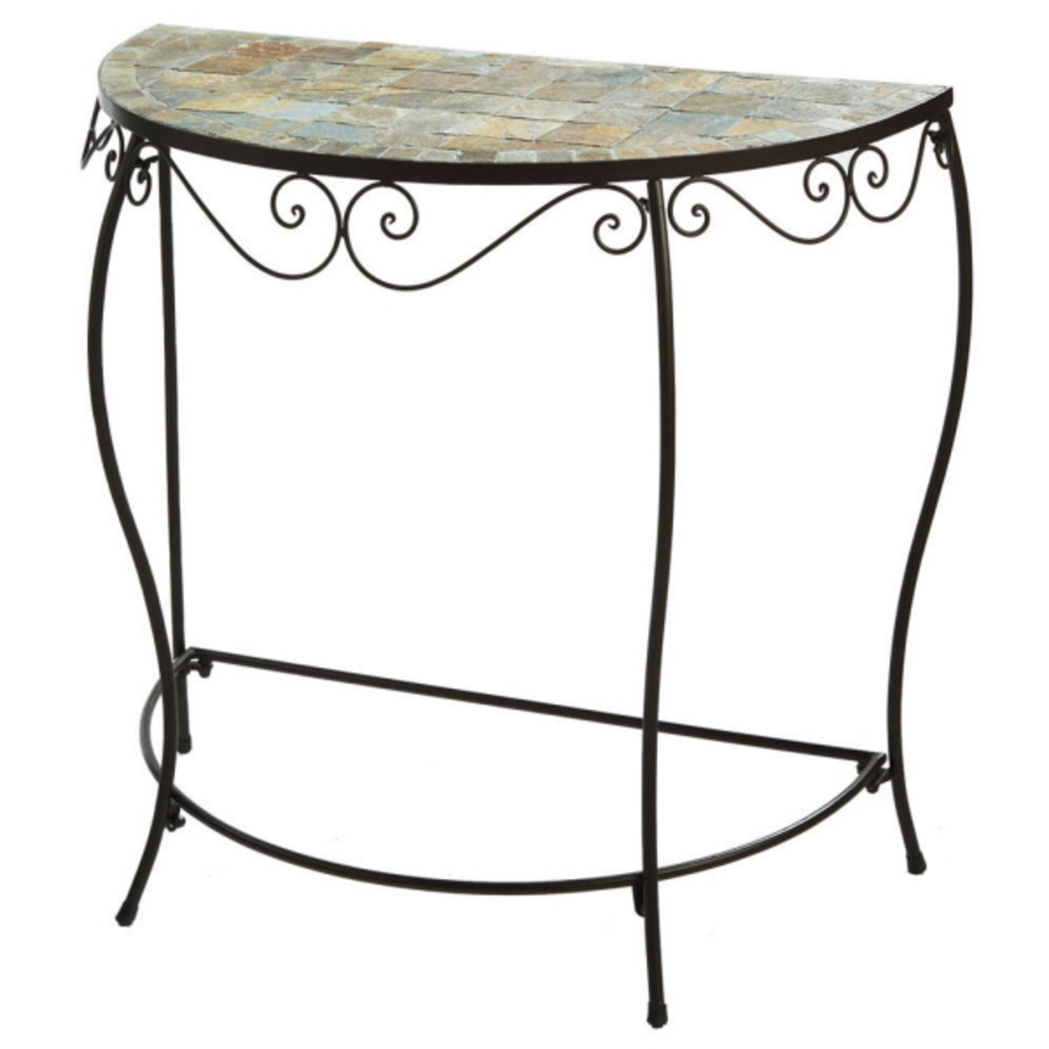 home furnishings tiled mosaic half moon console accent table kitchen dining tablecloth for foot folding wood coffee christmas cloth set comfy garden chair bathroom styles pier one