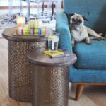home goods end tables the terrific drum style diy brass side beautiful mess how make retro master built smoker phone charging furniture elegant tablecloths outdoor patio couch 150x150