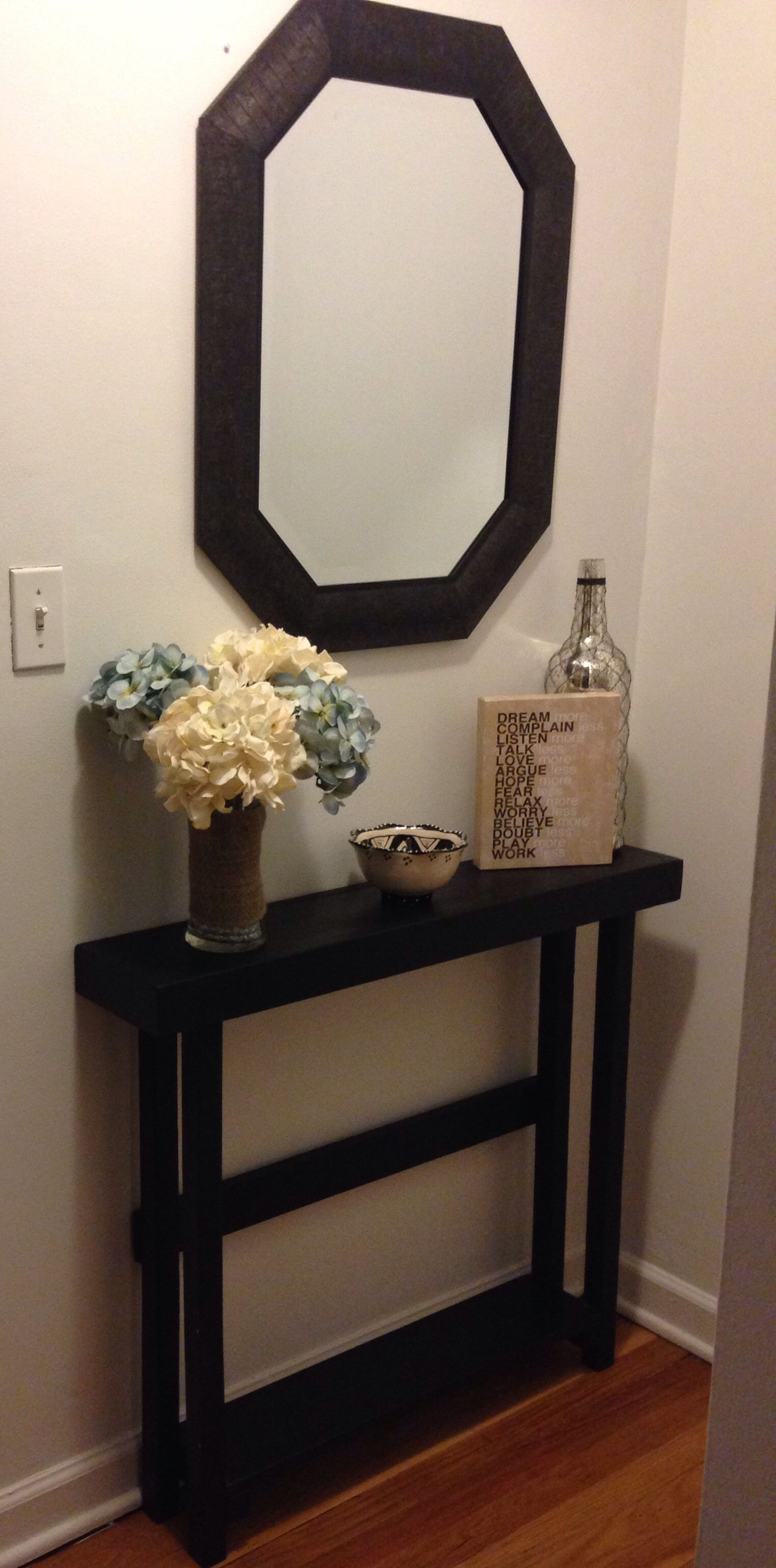 home improvement tips for updating your abode decor ideas round accent table foyer our entry too narrow much furniture and open with doorways other rooms you can find more details