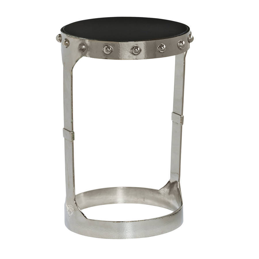 home meridian nolan silver accent table the classy vanity outdoor umbrellas recliner end leick side circle metal coffee pier one tables small designs wood modern brass lamp