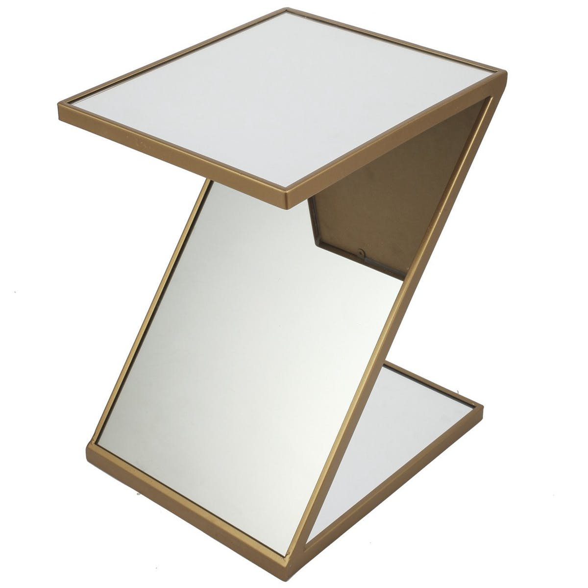 home mirrored shaped accent table modish tap expand drum side ballard furniture white cloth placemats pub height and chairs stackable coffee perspex nest modern brass lamp gray