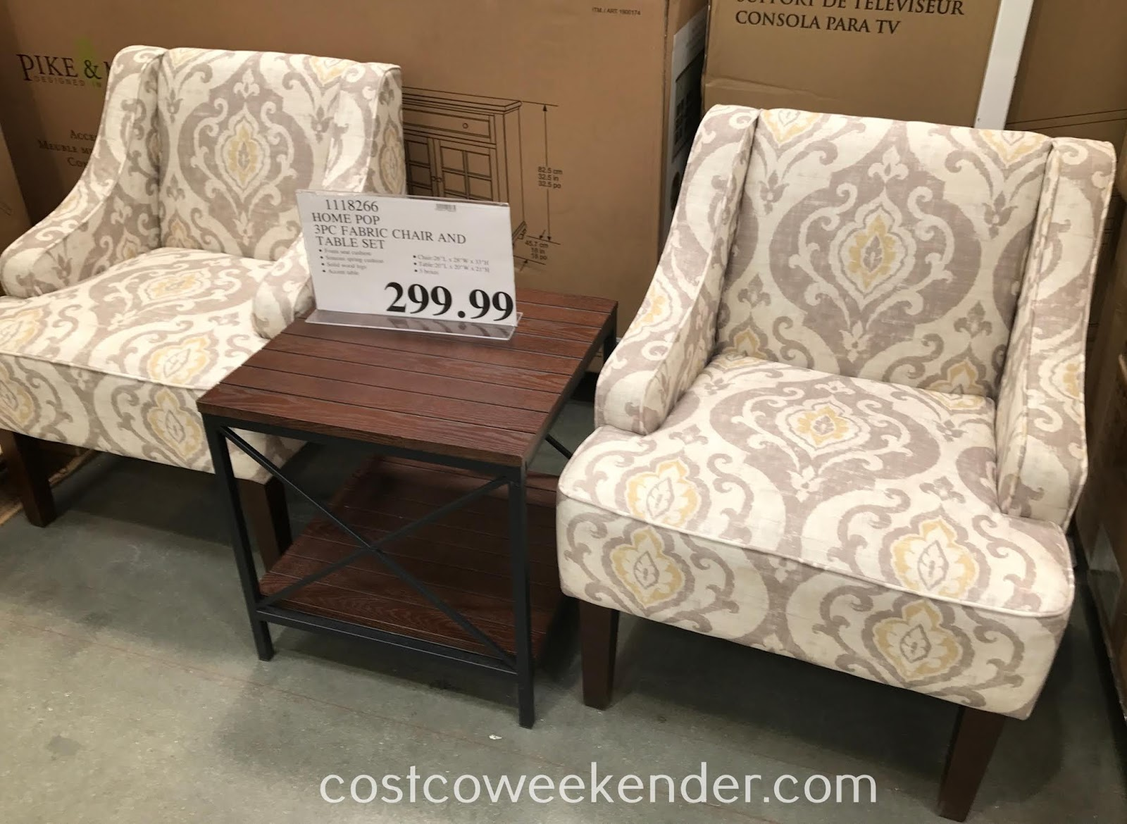 home pop piece fabric chair and accent table set weekender ave six furnish your with the elegant next chesterfield sofa brass top side outdoor loveseat clearance dining room