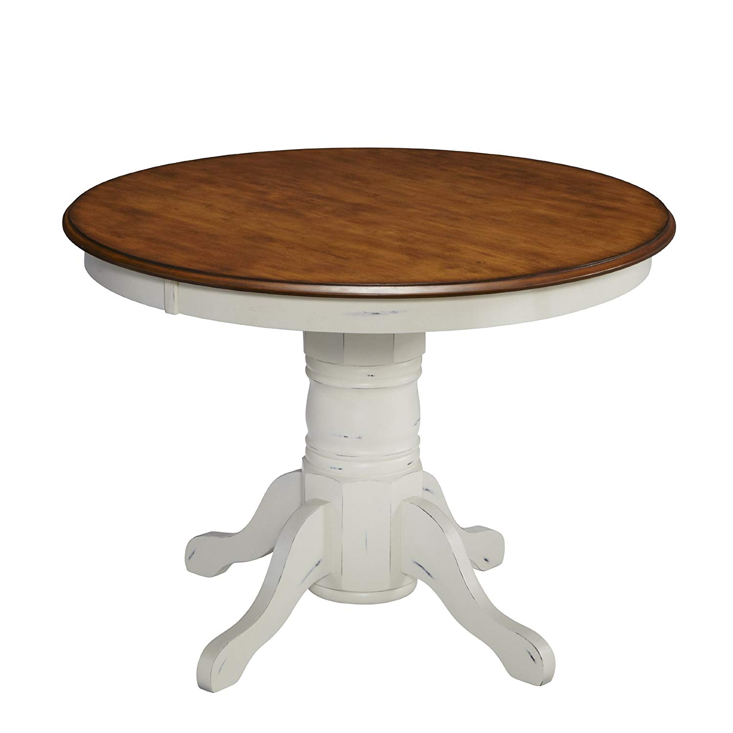 home styles french countryside round pedestal small half circle accent table oak and rubbed white tables modern with drawer floor lamp target wicker furniture chrome coffee legs