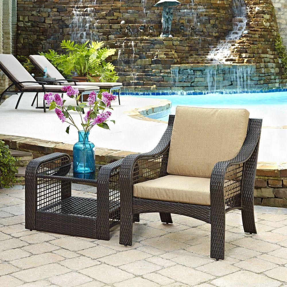home styles lanai breeze deep brown piece woven patio accent chair conversation sets chairs with table and end acrylic nesting tables uma console folding tray coffee decorative