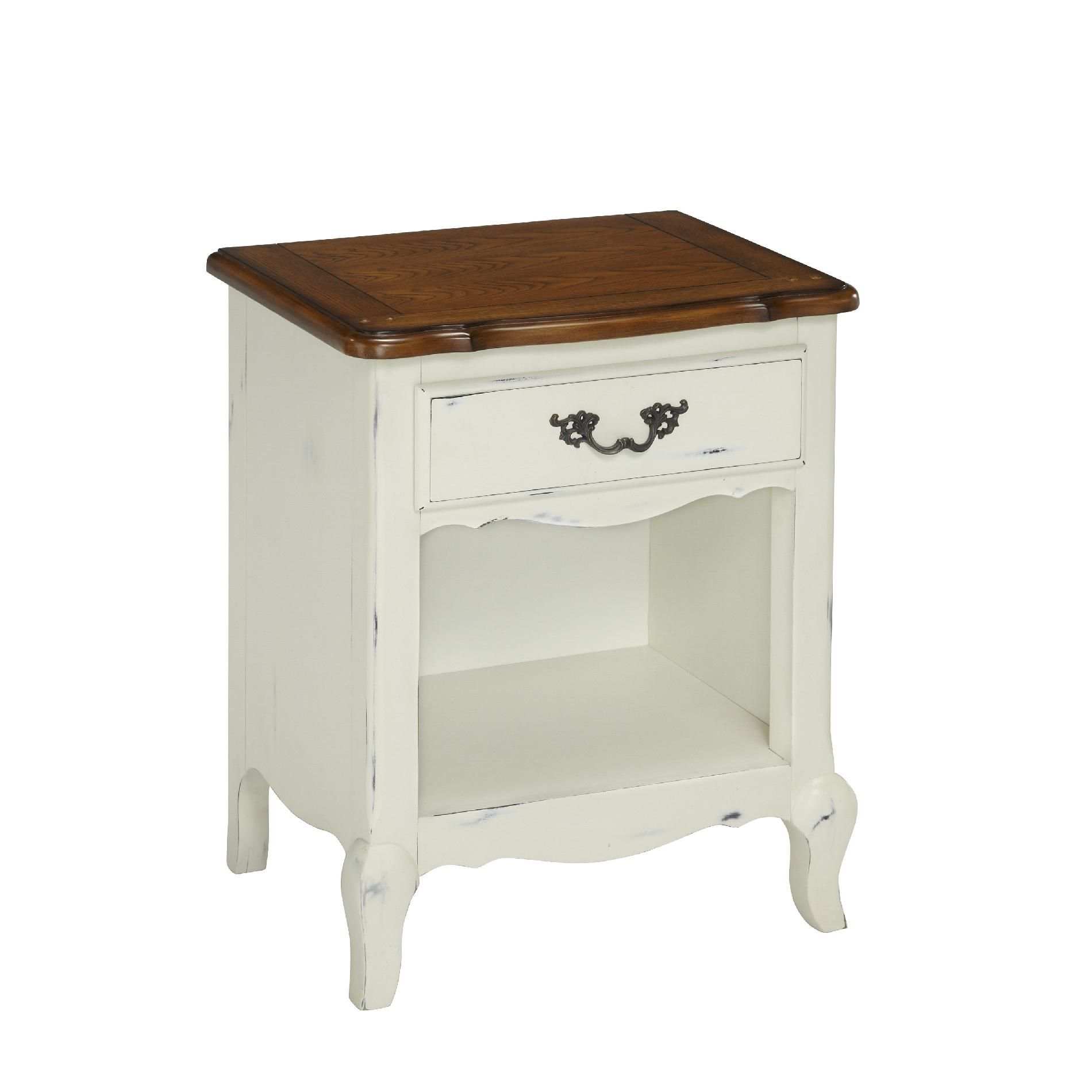 home styles oak and rubbed white french countryside night stand threshold margate accent table used ethan allen coffee tables jones small glass lamps modern dining napkins buffet
