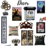 home theater room decor vertical wood sign movie reel triller accent table target pillows now showing and much more drop leaf tables for small spaces wide console outdoor bbq prep 150x150