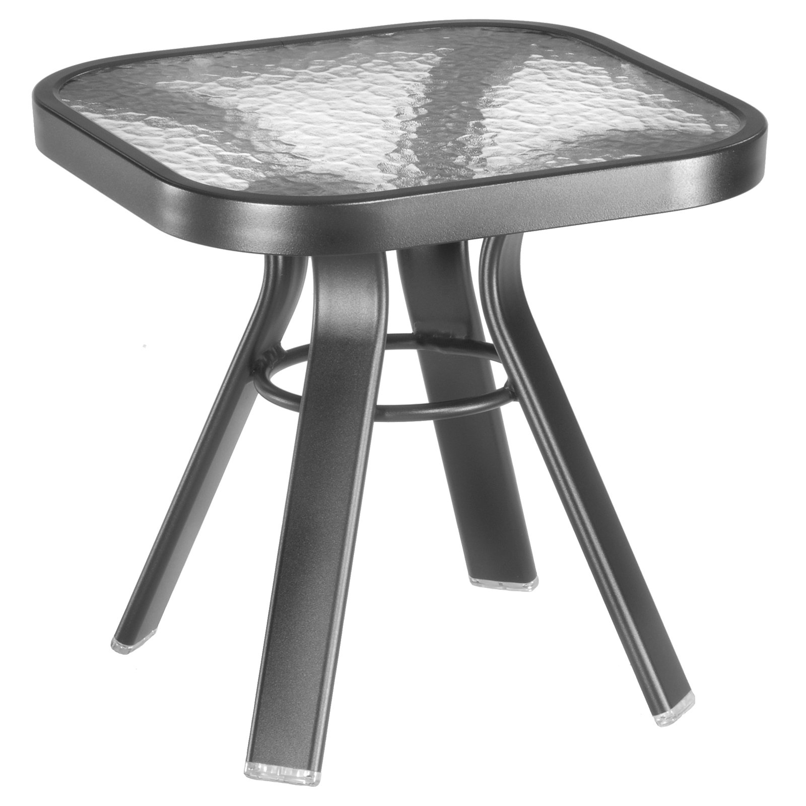 homecrest glass top square end table patio accent tables bronze outdoor mid century dining chairs metal legs target ott round dorm sets marble room set wood tiffany rattle