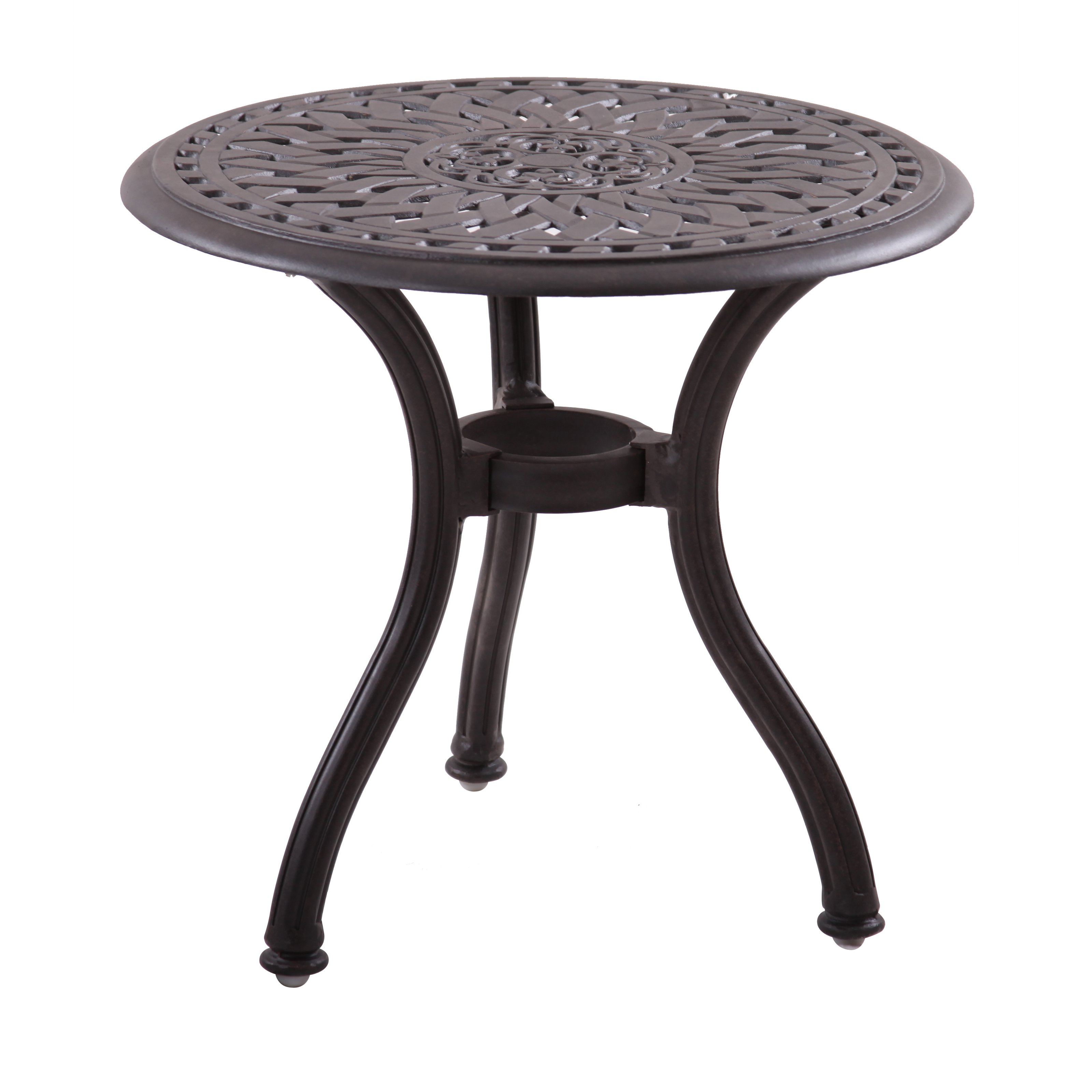 homecrest glass top square end table patio accent tables hampton bay darlee series cast aluminum round outdoor woven metal threshold hummingbird garden hall decor and chairs small