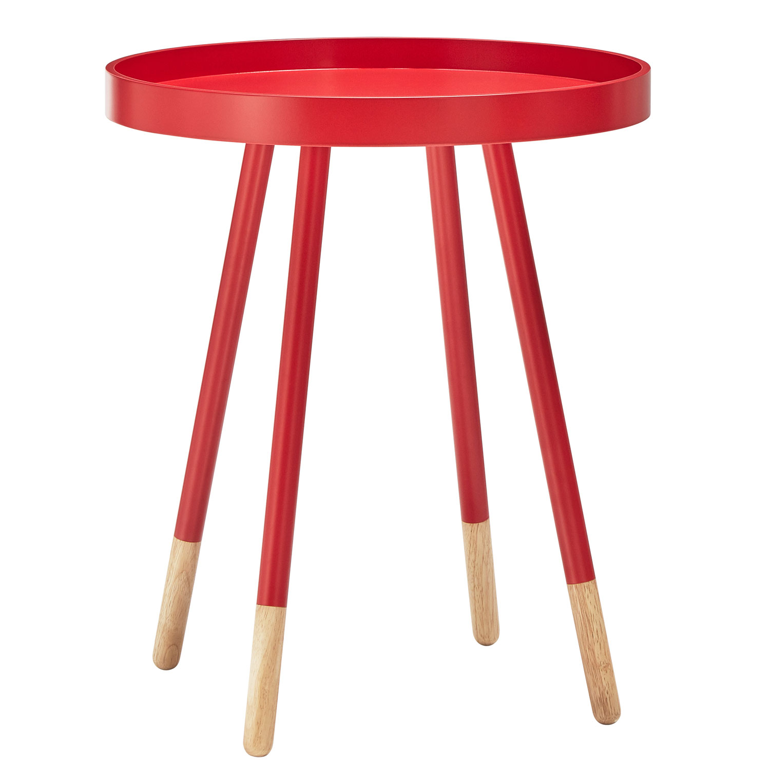 homehills joni red mid century tray top accent table hover zoom counter height dining set round barn ikea storage shelves with bins outside chair covers wicker and chairs small