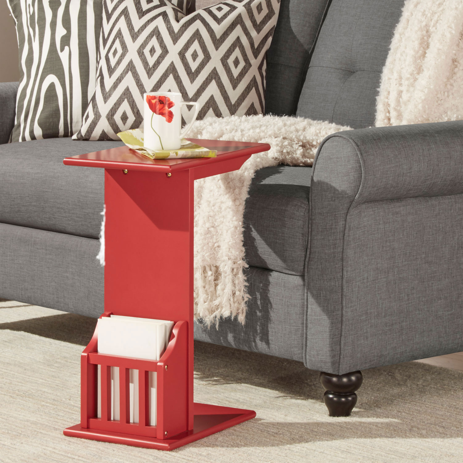 homehills zora red chairside rack accent table bellacor hover zoom grill griddle glass kitchen drawer chest mini lanterns distressed metal side grey end target hall chests and