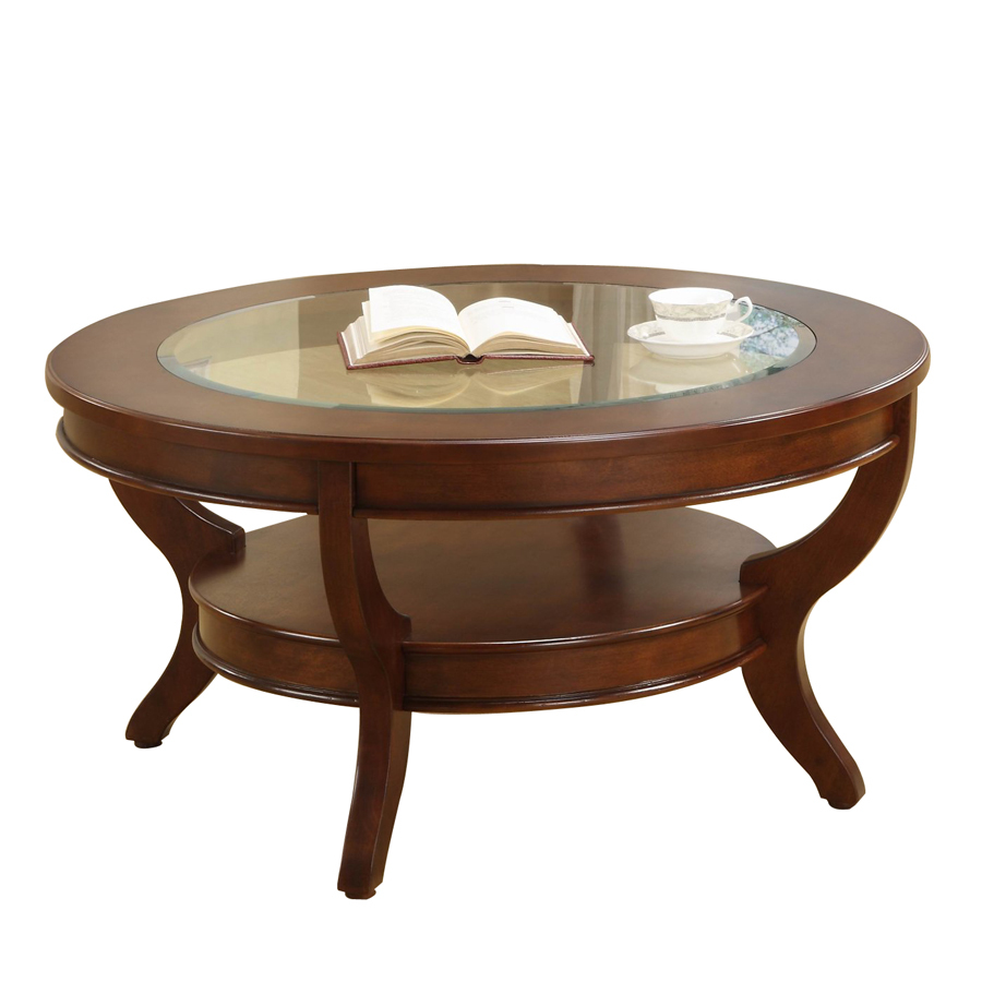 homelegance avalon low sheen cherry maple round coffee table accent asian porcelain lamps nesting set tables nest ceiling lights leg ideas bar great furniture side designs with