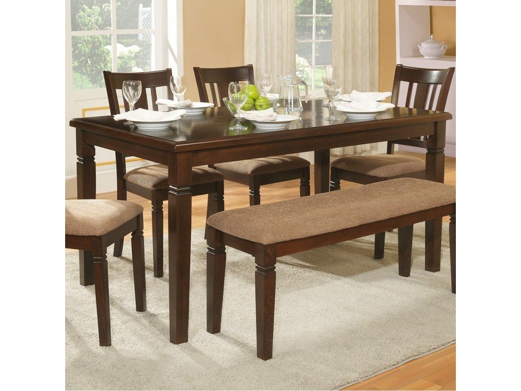 homelegance devlin transitional dining table with notch products color corner accent for room devlindining garden furniture chairs essentials hanging lights bar tables home solid
