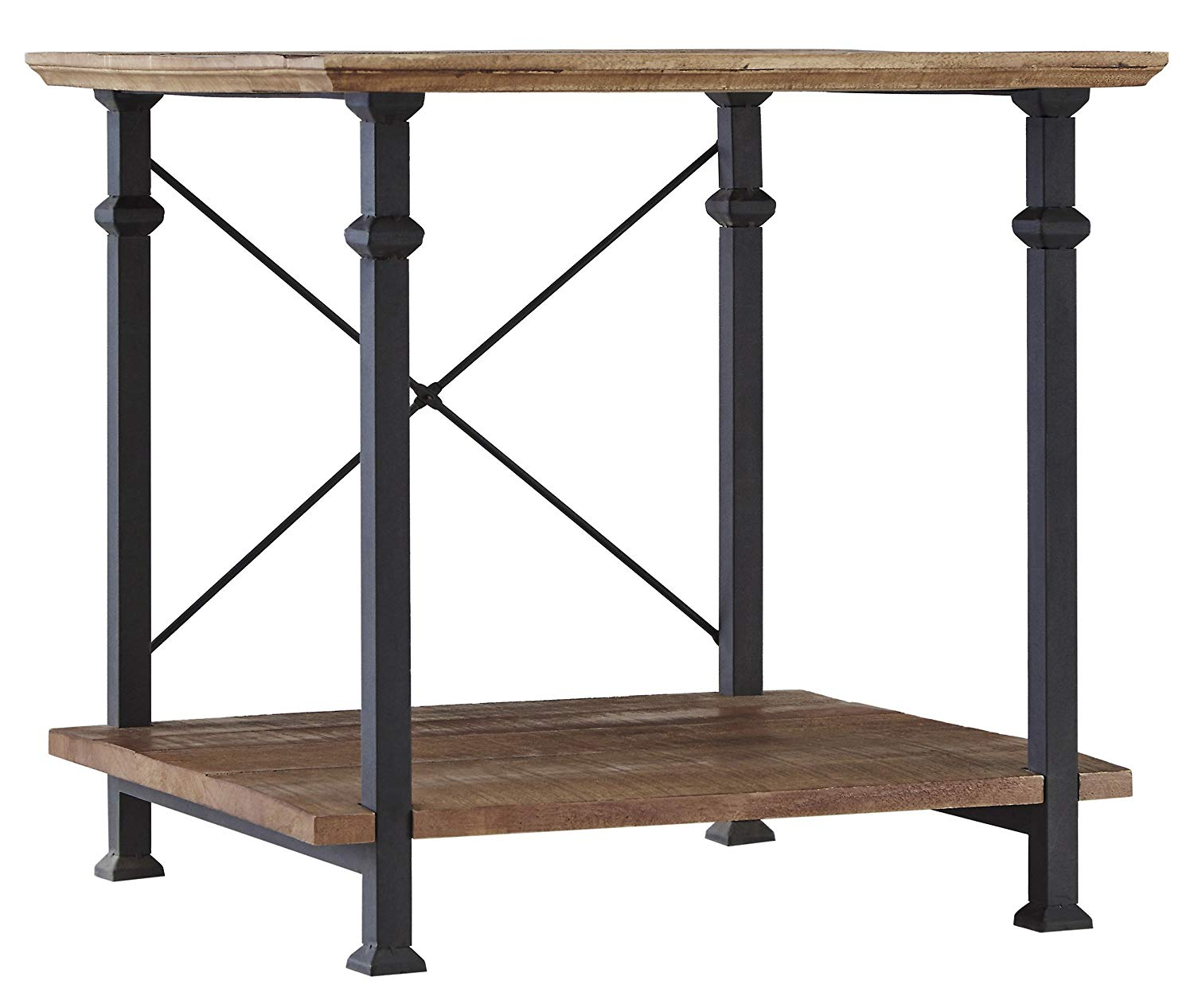 homelegance factory modern industrial style end table yrgl small half circle accent rustic brown kitchen dining trunk chest high behind couch west elm payment pair side tables