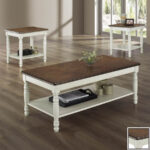 homelegance ohana cherry antique white accent table set mosaic garden bistro bar height patio winsome with drawer stainless steel kitchen island ice box cooler side black and 150x150