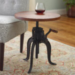 homemade table probably super great slim end tables with drink barrel cork catcher accent wine enthusiast holders industrial crank base drinks cement dining corner designs for 150x150