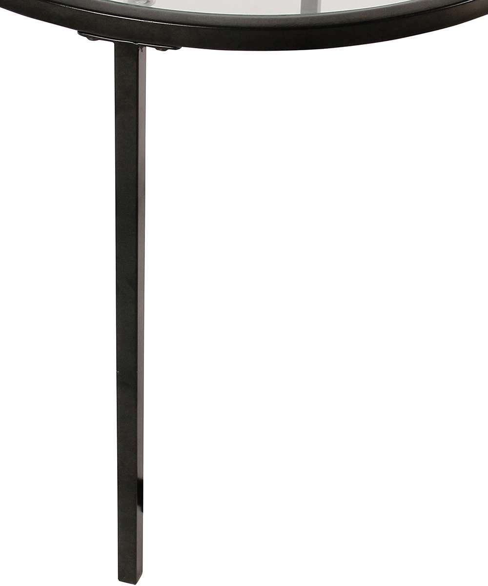 homepop black glass top accent table zulily alt metal womens matte alternate pottery barn cole task lamp dining chairs round legs wood concrete solid console sheesham ikea base