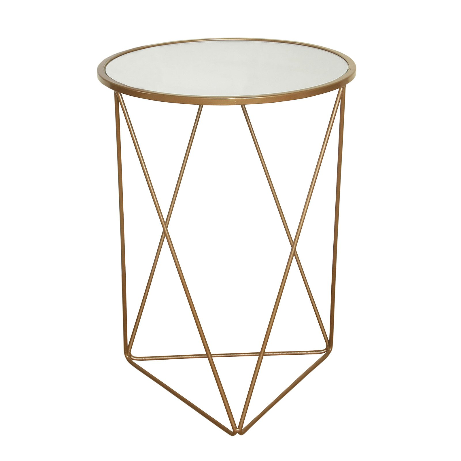 homepop gold accent round end table inuse ginger jar lamps mango wood console ikea hallway storage comfortable chairs patterned plastic tablecloths small with marble top mirrored