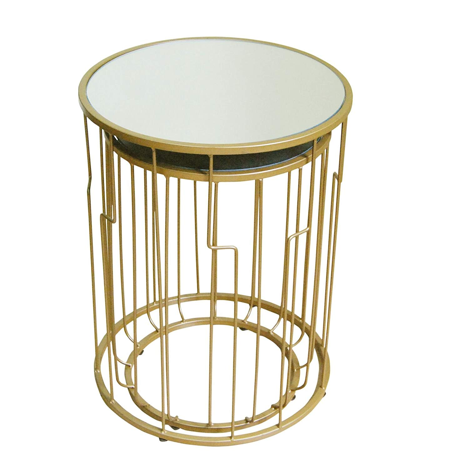 homepop metal accent nesting tables with glass table top set gold kitchen dining piece patio sets clearance small lucite walnut side ikea wheels threshold seal concrete mosaic