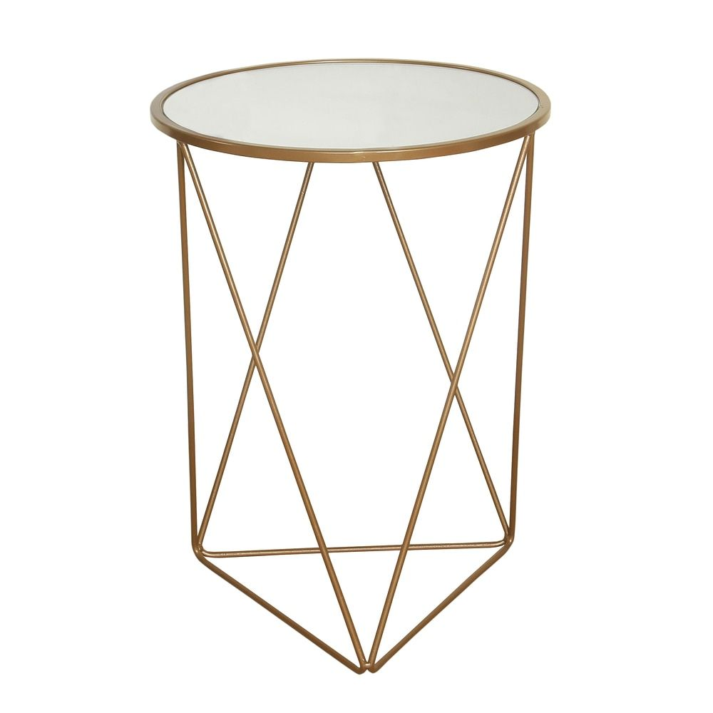 homepop metal accent table triangle gold base round glass top ping the best coffee sofa end tables blue tiffany lamp antique lamps wedge shaped pottery barn reclaimed wood purple