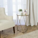 homepop metal accent table triangle gold base round glass top vintage cabinet hardware luxury placemats ready assembled bedroom furniture country trestle inch wide end target foot 150x150