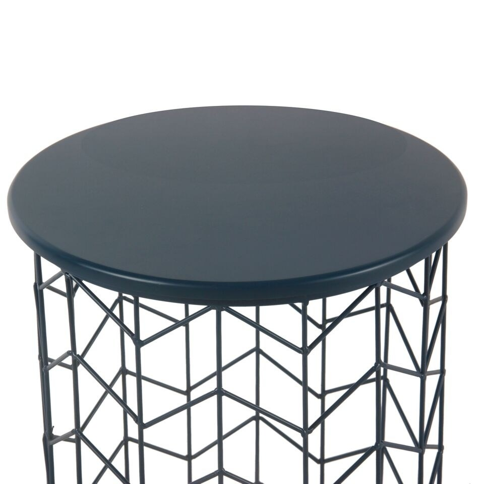 homepop modern blue metal accent table free shipping today oblong cover perspex bedside carpet tile edging strip coffee and side sofa nic tablecloth chandeliers spotlight lamp