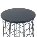 homepop modern blue metal accent table threshold transition tall round bar and chairs small couch end tables walnut side ikea dark grey pottery barn bedside storage cabinets 150x150