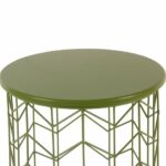 homepop modern green metal accent table free shipping today round side target brown coffee world market small nesting cocktail set lift top wood slab mirrored foyer half with 150x150