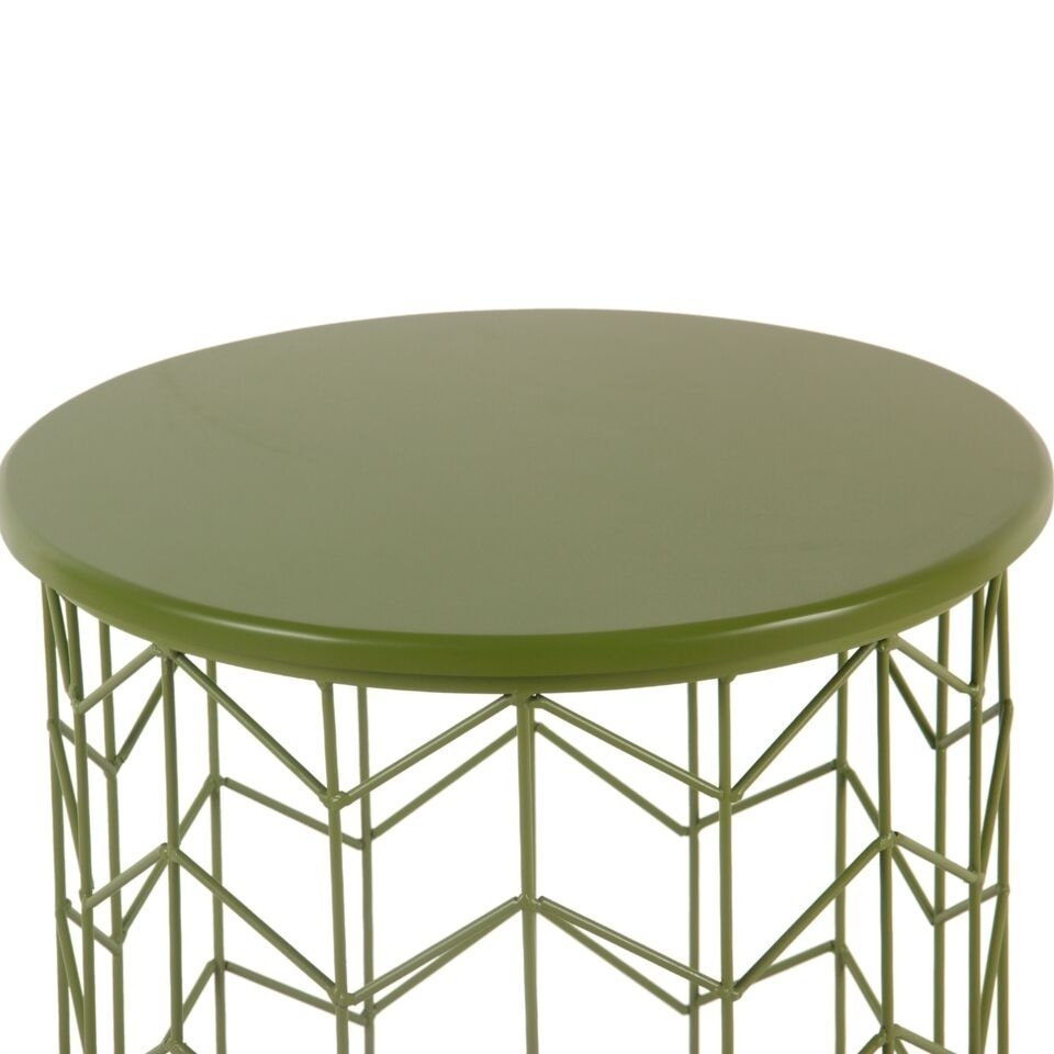 homepop modern green metal accent table free shipping today round side target brown coffee world market small nesting cocktail set lift top wood slab mirrored foyer half with
