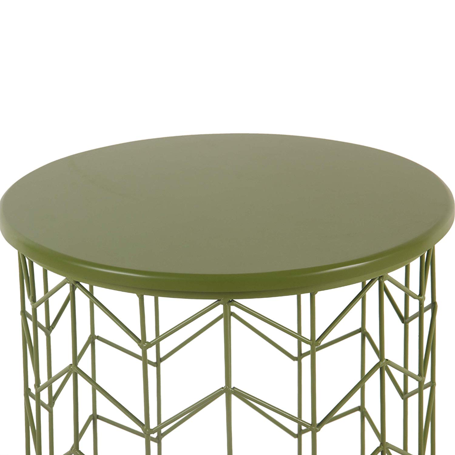 homepop modern green metal accent table kitchen eyelet dining drum kit stool ethan allen buffet extra long stacking coffee tables kids bedside unique small side hammary end marble