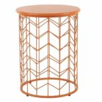 homepop modern orange metal accent table free shipping today small antique hall ikea tall cube tables rustic round walnut side couch decor bar and chairs black office desk kijiji 150x150