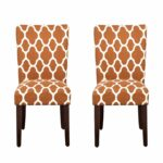 homepop parsons classic upholstered accent dining chair room furniture set rust and cream geometric chairs square glass gold coffee table white wood nest tables small cherry end 150x150