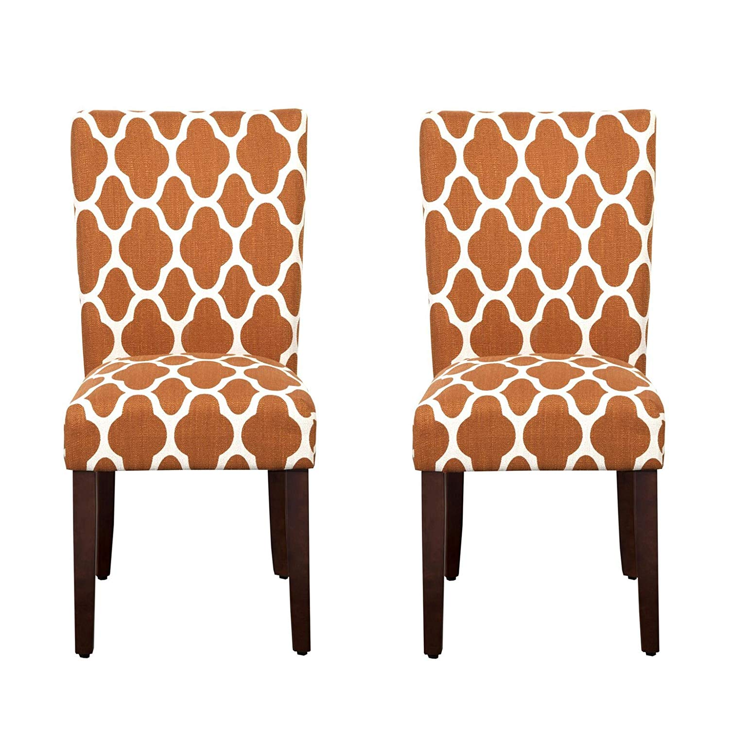 homepop parsons classic upholstered accent dining chair room furniture set rust and cream geometric chairs square glass gold coffee table white wood nest tables small cherry end