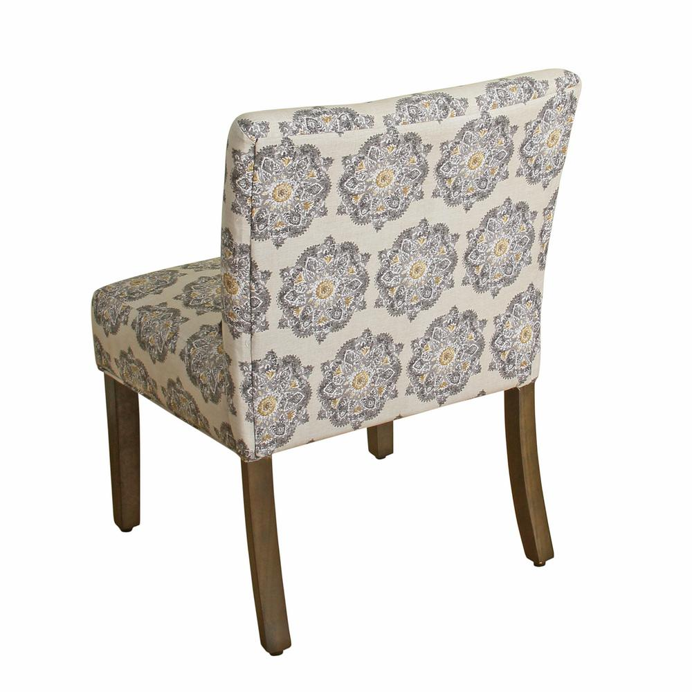 homepop printed gray medallion parker accent chair and pillow multi chairs dining room table with the teak wood furniture iron bedside target kitchen cart home goods sets big