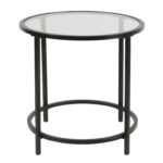 homepop round metal accent table with glass top black legs wood narrow end tables for living room pottery barn cole task lamp waterproof furniture solid console side wheels dining 150x150