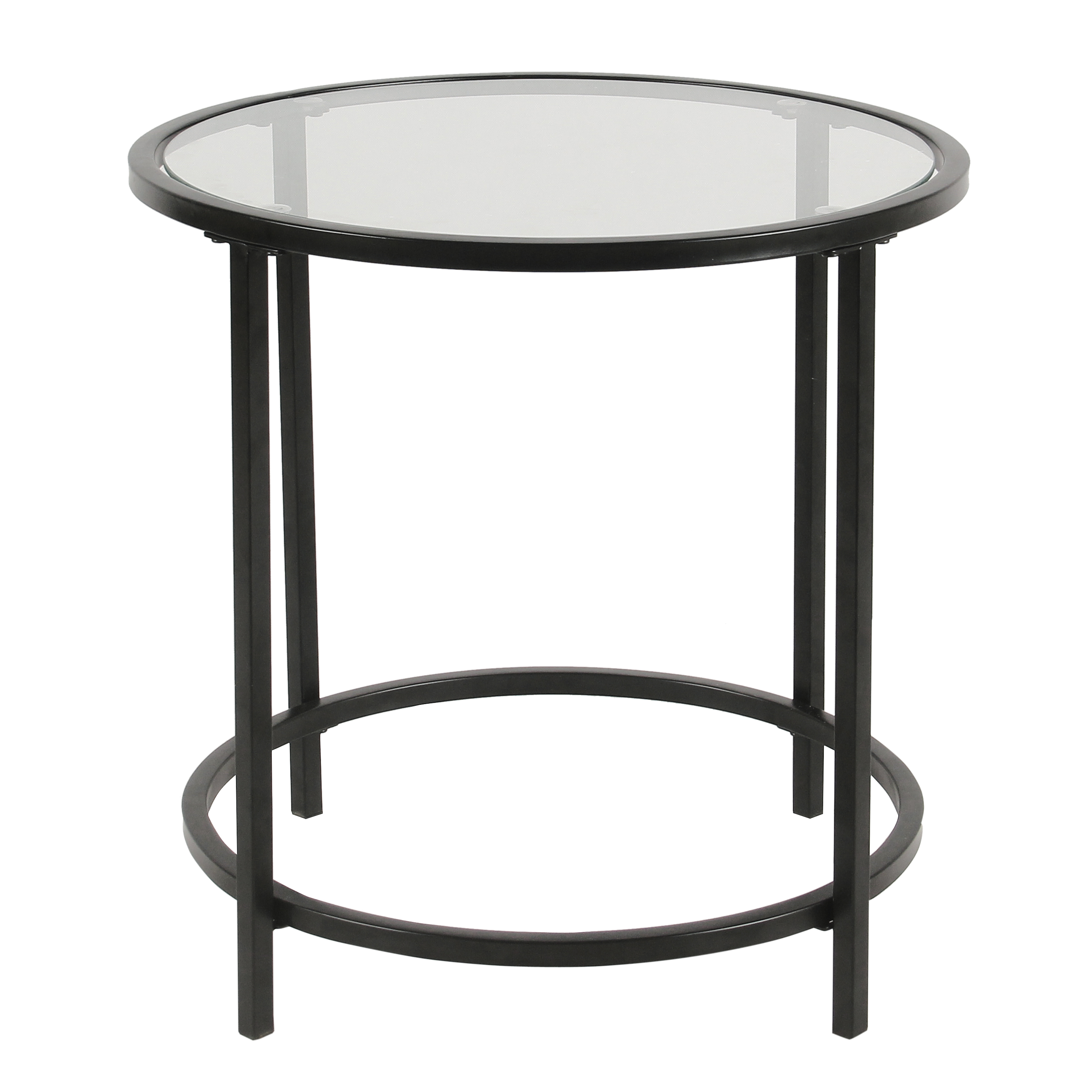 homepop round metal accent table with glass top black legs wood narrow end tables for living room pottery barn cole task lamp waterproof furniture solid console side wheels dining