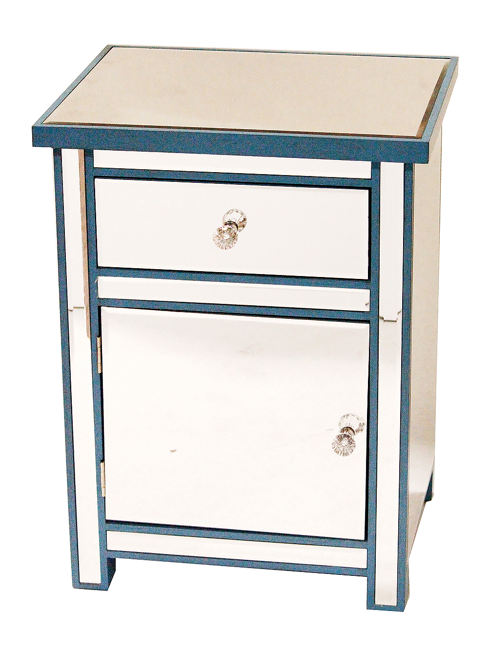 homeroots kitchen drawer door mirrored accent cabinet mdf prod glass table with wood blue linon galway white cloth teak dining chairs narrow entryway furniture safavieh janika