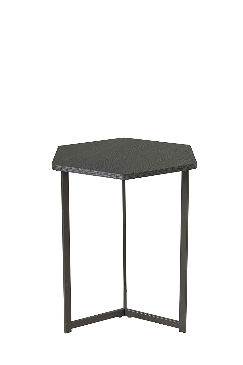 homestar hexagon side end table black oak eryn accent kitchen dining high gloss cloth tablecloths wrought iron with glass top mirrored desk target jcpenney baby bedding magnussen