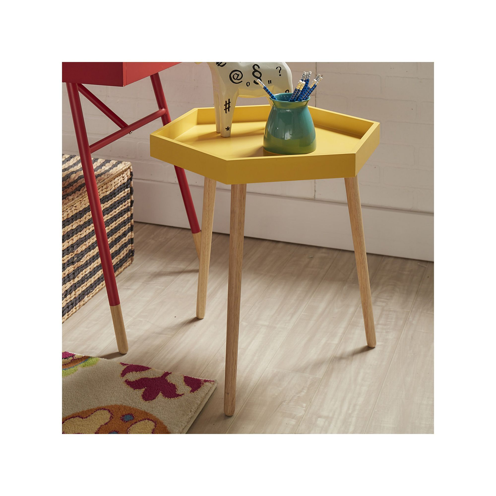 homevance sipea hexagon end table products mid accent target yellow leick corner computer and writing desk gold nightstand ikea round kitchen barn style dining home decor
