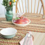 honey vanilla ginger jute placemat the braided rug place falltablescape placemats tablerunners table accent home accents patio chairs mid century small eileen gray side jcpenney 150x150