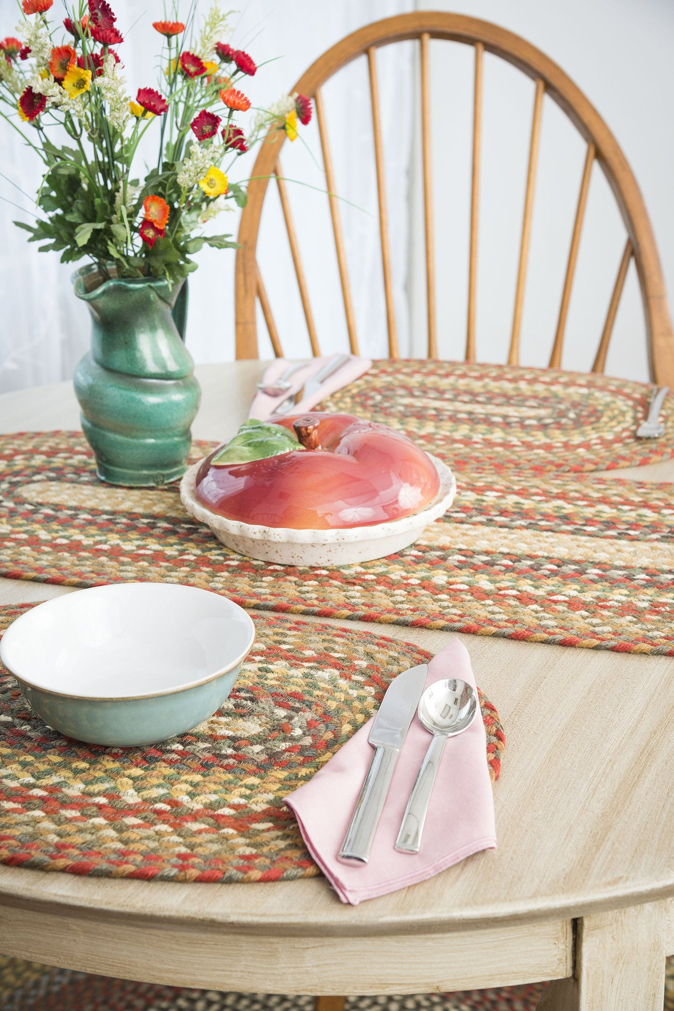 honey vanilla ginger jute placemat the braided rug place falltablescape placemats tablerunners table accent home accents patio chairs mid century small eileen gray side jcpenney