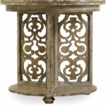 hooker chatelet gray round accent table collection double pedal drum wrought iron small side lamps living room decorating ideas cocktail and end sets bourse dining pedestal base 150x150