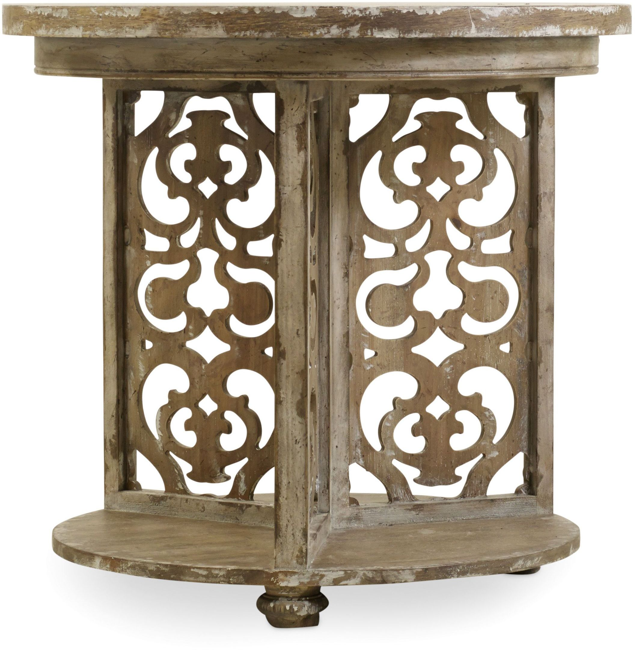 hooker chatelet gray round accent table collection double pedal drum wrought iron small side lamps living room decorating ideas cocktail and end sets bourse dining pedestal base