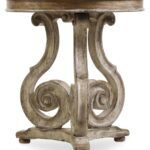 hooker chatelet gray scroll accent table collection metal sylvia small drop leaf coffee iron legs gold console marble top furniture wheels round covers for bedside tables ashley 150x150